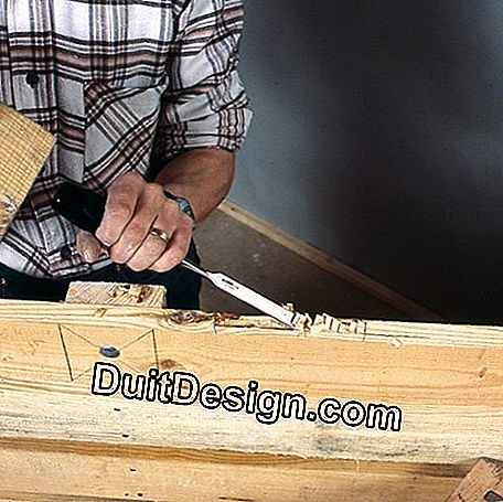 Notching the wood for the hinges