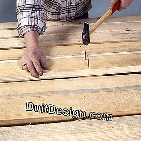 Nail the boards on the sleepers