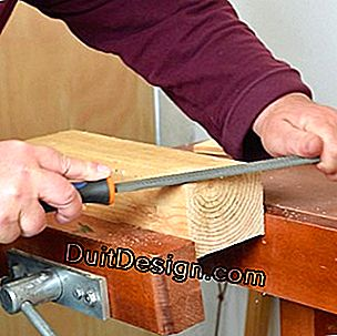 Grate the wood by hand