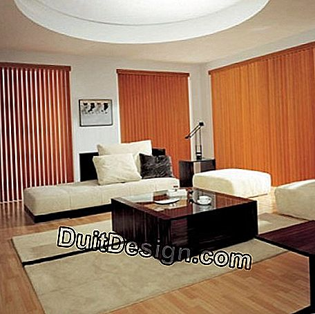 Vertical blind with wooden blinds