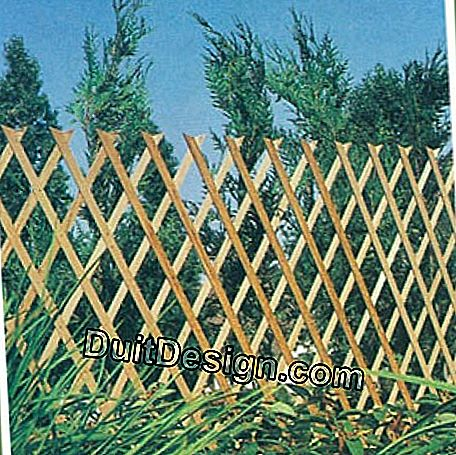 A wooden fence of this nature is both effective (because very high) and decorative. It fits perfectly with the garden decor.