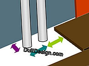 Cut-outs for floating floors: pipes