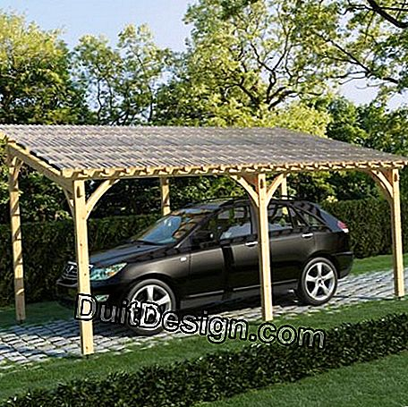 This type of plate is quite suitable for the roof of a carport.