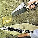 Make a mortar bonded with cement to plaster