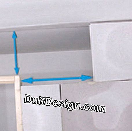 Measure the cutouts of the door frame
