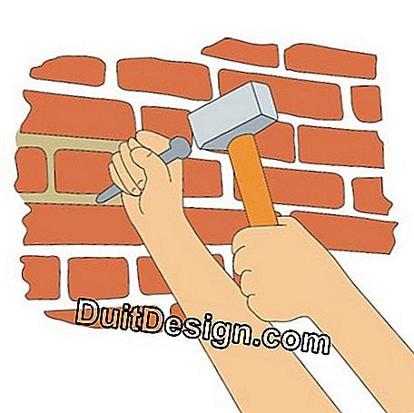 The chisel is a good tool for digging joints. If you have a large area to treat, take a chisel with a damper that reduces vibration and protects the hand at the same time.