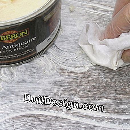 Apply antique wax in a colorless paste