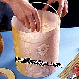 Create a colorful silk lampshade