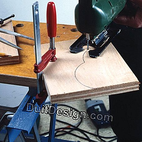 Jigsaw cutting, assembled cheeks from the shelf