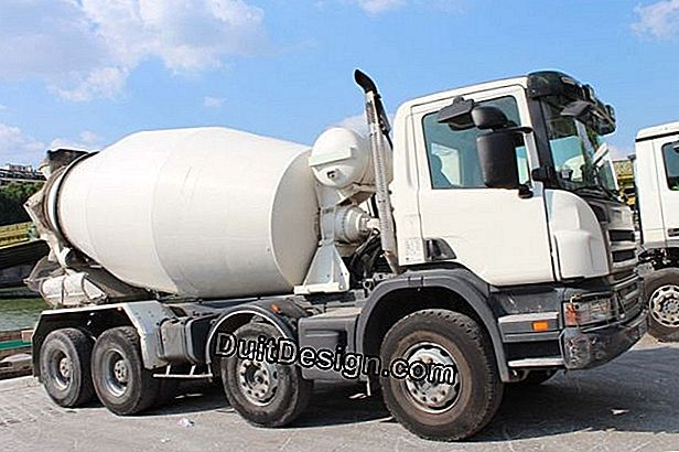 Concrete delivered at home in a truck