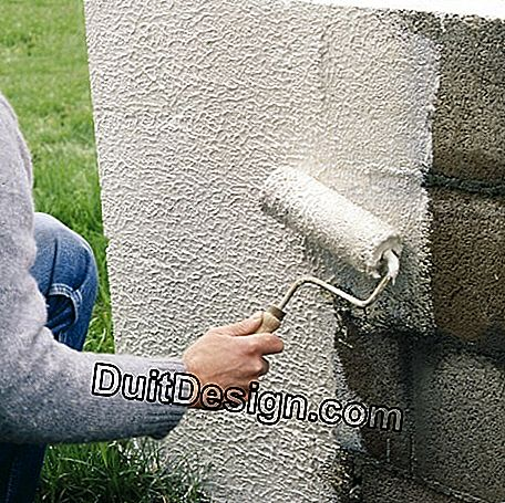 Application of an exterior decorative coating
