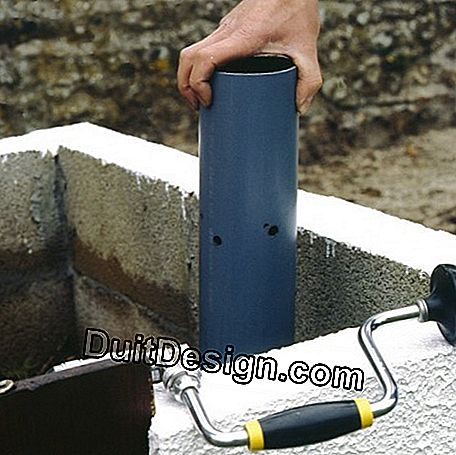 A perforated plastic pipe ensures aeration