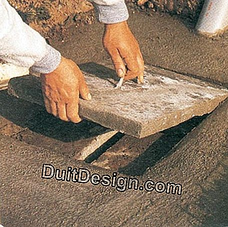 The slab of this sump is equipped with a central inspection cover.