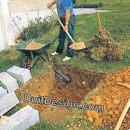 If the nature of the soil allows, the well can be dug by hand.