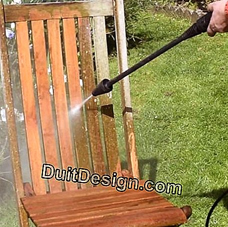 Wash the wood with a pressure washer