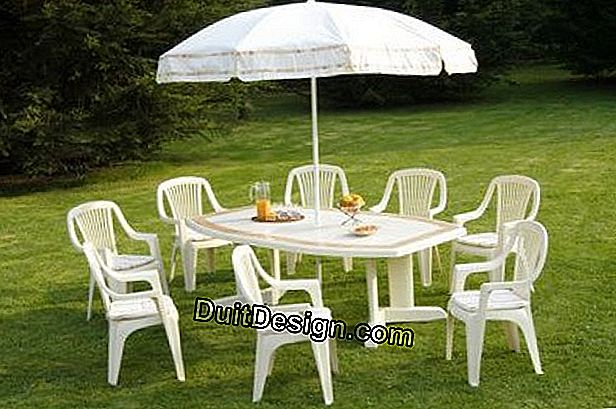 How to clean your plastic garden furniture?