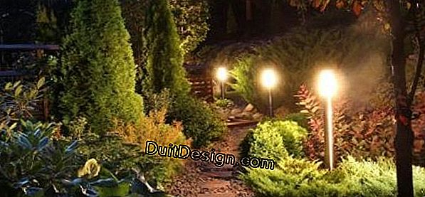 How to light a garden?