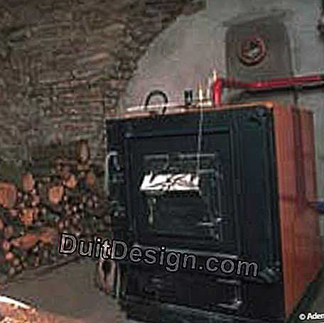 Fireplaces and boilers of central heating with wood: wood