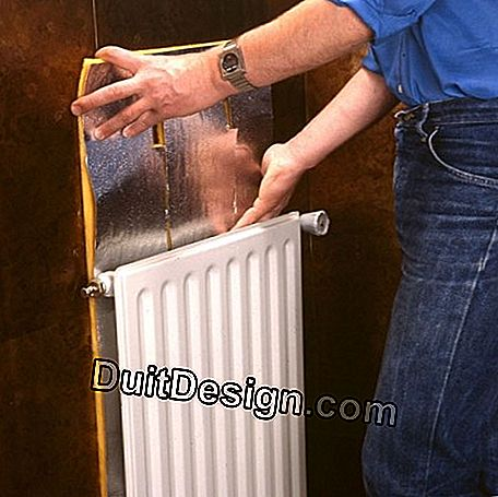 An insulating plate protects the wall while returning heat