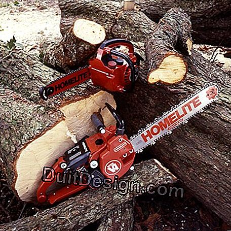 Different types of chainsaws according to the cut to be made