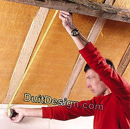 Install composite panels and glass wool under roof: install