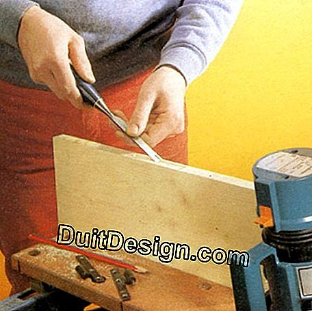 Finish cutting with a wood chisel