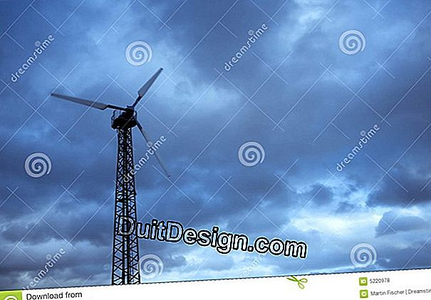 The wind turbine for private