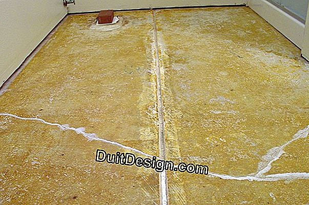 Lay tile on a cracked slab without expansion joint
