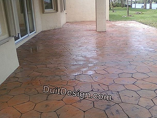 Lay outdoor tiles