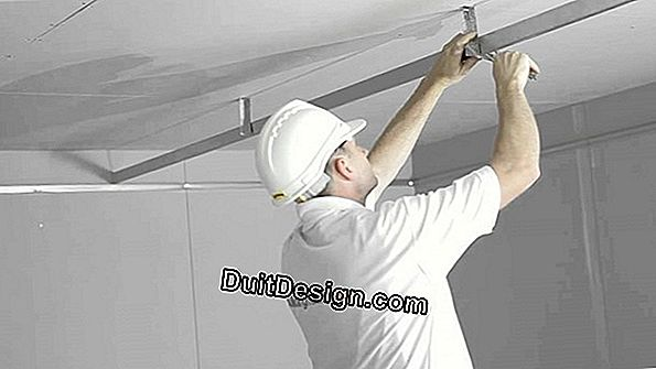 Fixings abutment in ceiling in plasterboard