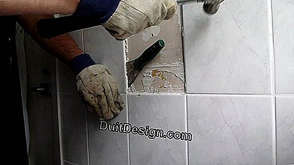 Remove tiles from a brick wall