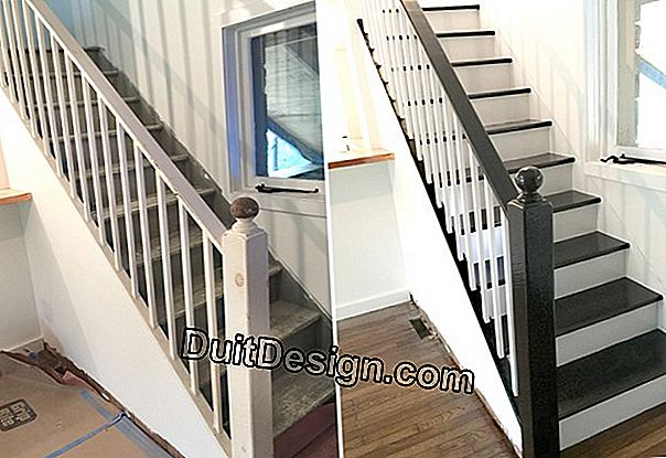 Paint a wooden staircase
