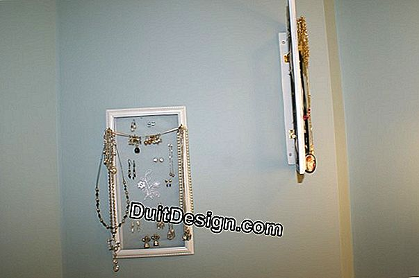 Hang a piece of furniture firmly in a wall