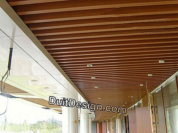 PVC paneling under concrete ceiling