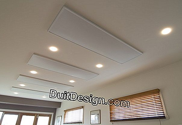 Radiant heating ceiling