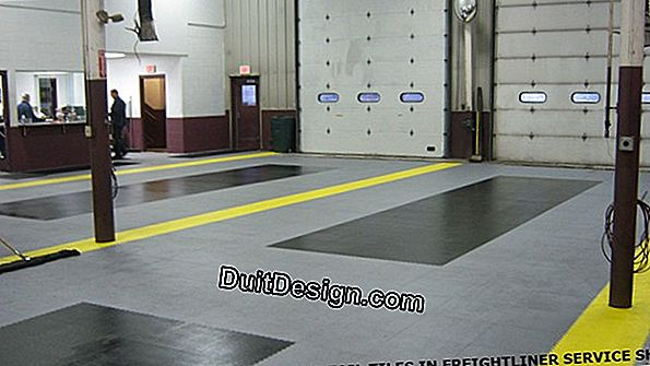 Can we stick tiling in a car garage?