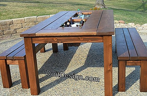 Make an outdoor table