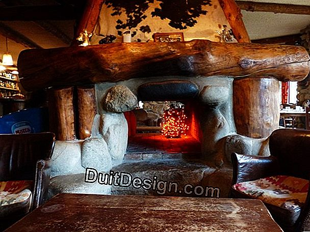 Modify an open fireplace with a heat recovery unit