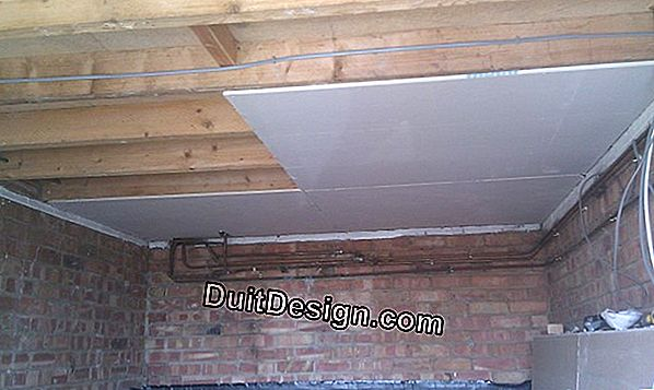 Laying direction of plasterboard