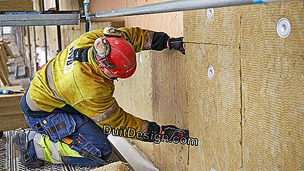 Double layer insulation with rockwool