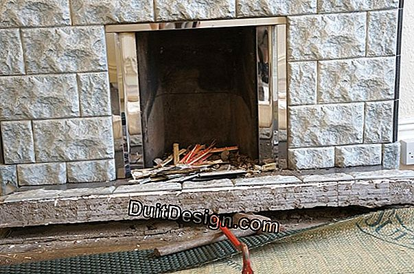 Can a fireplace be removed without removing the bush in the bush?