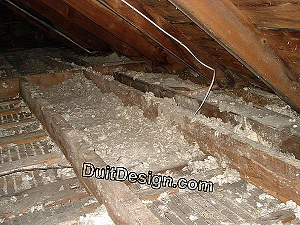 Insulate the floor of the attic