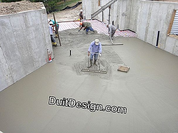 Concrete slab in basement