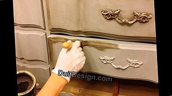 To paint a waxed furniture