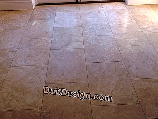 Clean a dull tile that has become dull