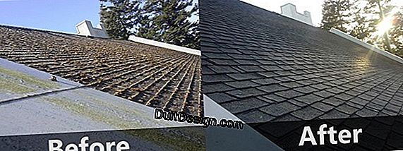 Avoid black marks at roof exits