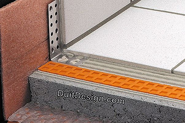 DITRA waterproofing for a terrace