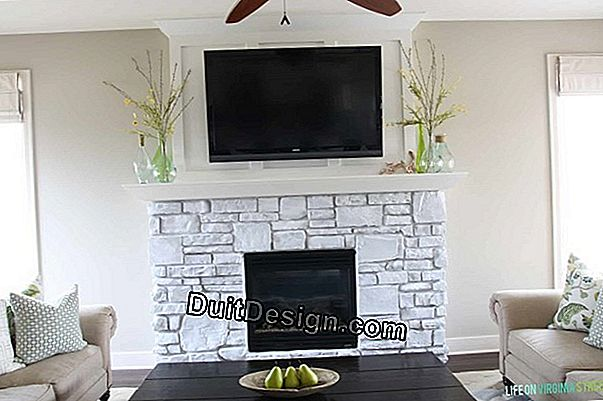 Install a stone fireplace from Gard with insert
