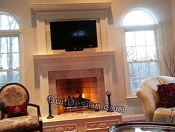 Renovation of a fireplace marble