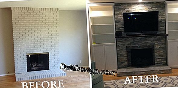 Renovation of a white stone fireplace